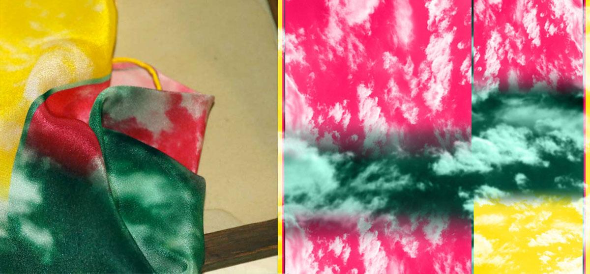 buy beautiful stylish silk scarf from a friend of mine paris taipei tokyo 贅沢なシルクスカーフ elle bandana isetan dover street market ginza