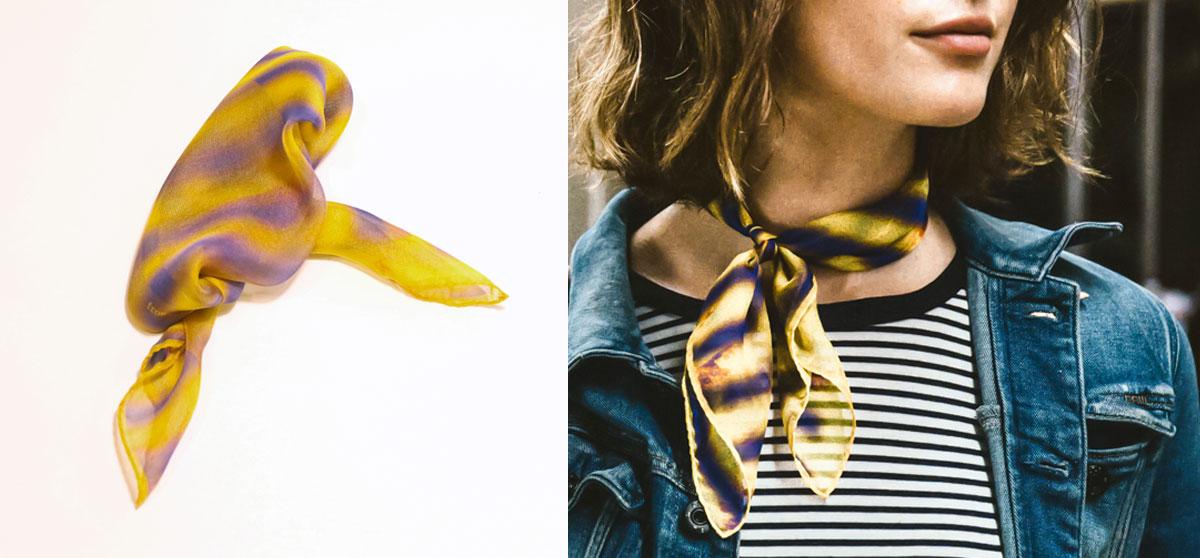 buy beautiful luxury yellow silk scarf online from a friend of mine paris taipei tokyo スカーフ スカーフコーデlos angeles egg canvas blonde salad rae michalik