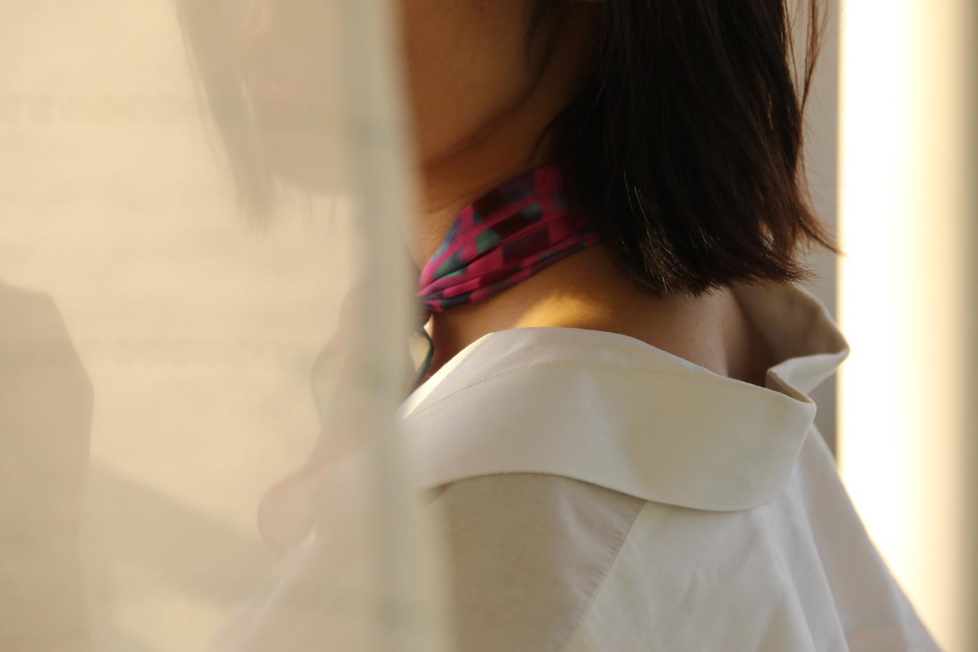 buy pink fashion silk scarf online in taipei tokyo paris. スカーフコーデ by bambi watanabe; isetan selfridges barneys new york
