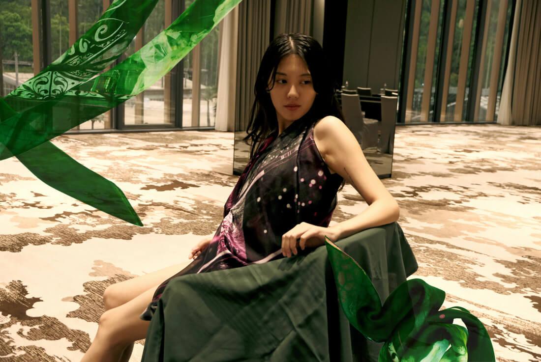 Copy of Luxury silk scarf dress from a friend of mine online paris taipei