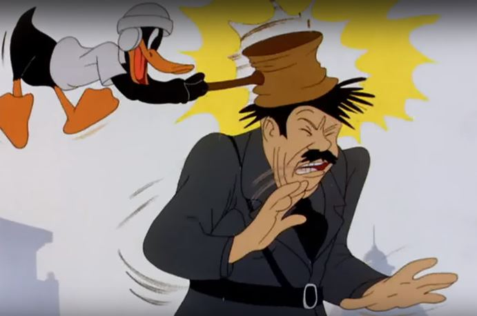 Daffy Smashing Hitler.JPG
