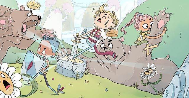 A fun scene by our illustrator Martina Rosazza. #animation #illustration #conceptart
