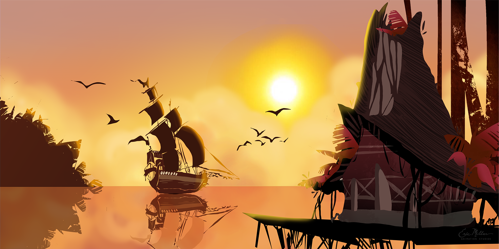 Concept art Martina did for Eric Miller Animation
