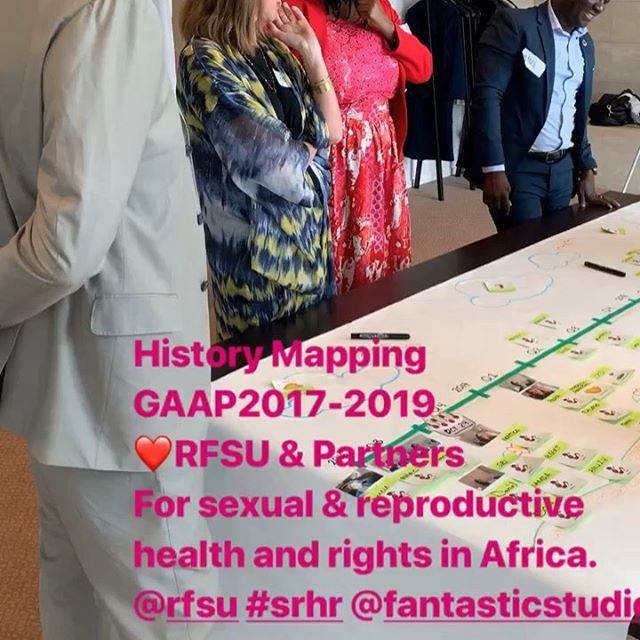 Project partners mapping a 3-year-long project for Sexual and reproductive health and rights in Africa. ...and planning the next. Walking backwards into the future @rfsu #srhr #fantasticstudios #sankofa #kamuakamuri