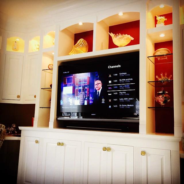 We love built in installs. #nyavd #nyavdcrew #livingroom #customtv #custominstall #wedoitbetter #builtins #sonos