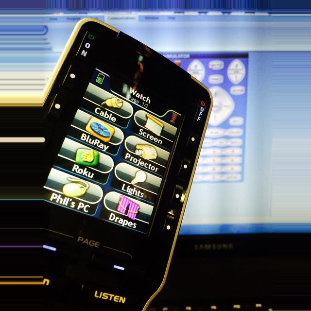 Universal remote control. #nyavd #nyavdcrew #remoteconteol #universalremote #hometheater #livingroom #makeiteasy