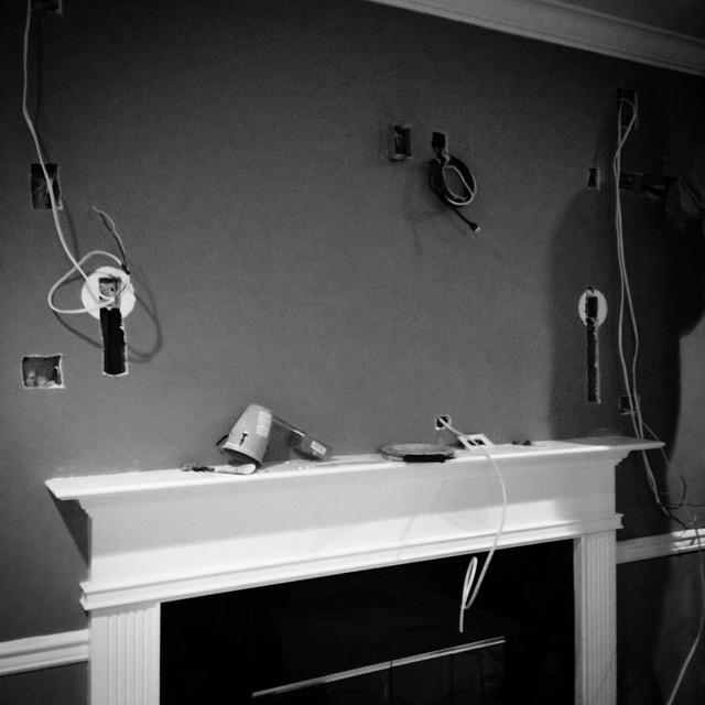 The beginning of a built in. #nyavd #nyavdcrew #livingroom #builtin #flushmount #livingroom #wedoitbetter
