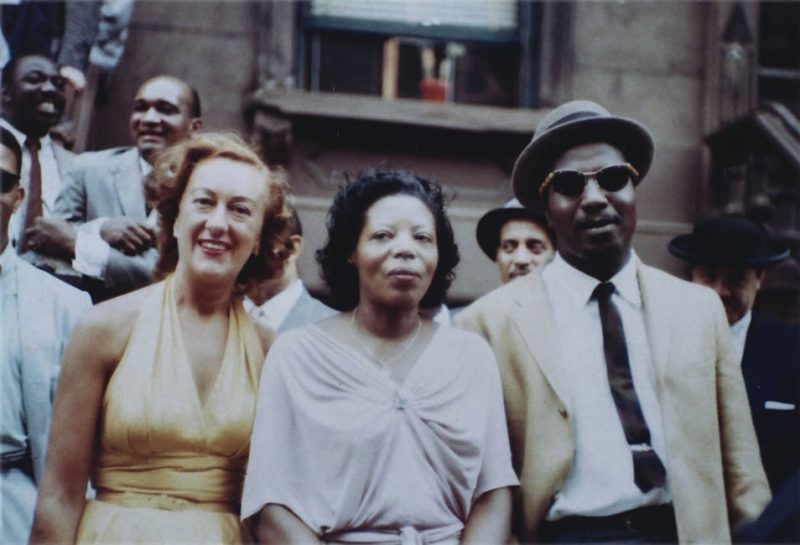 "Marian McPartland, left, with Mary Lou Williams and Thelonious Monk, during the ""Harlem 1958"" photo shoot."