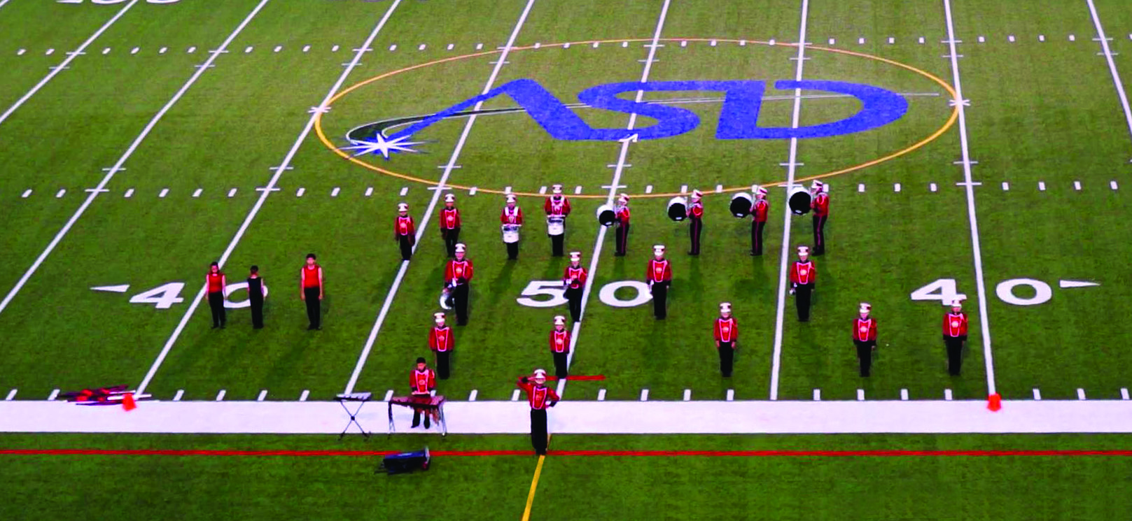 On the field at DCI East in Allentown, PA