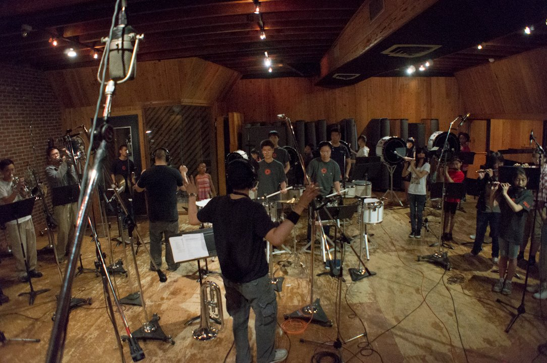 At MSR Studio recording Heart & Valor