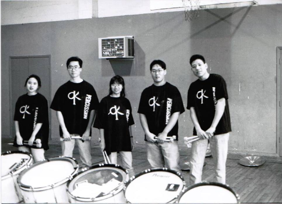I wasn't 12 here. It's more likely  I was   16    .    left to right:  Mary Chiu, Stanley Tang, Karen Leon, Chez Bryan Ong, Simon Yu   Photo by:  Barry Tang
