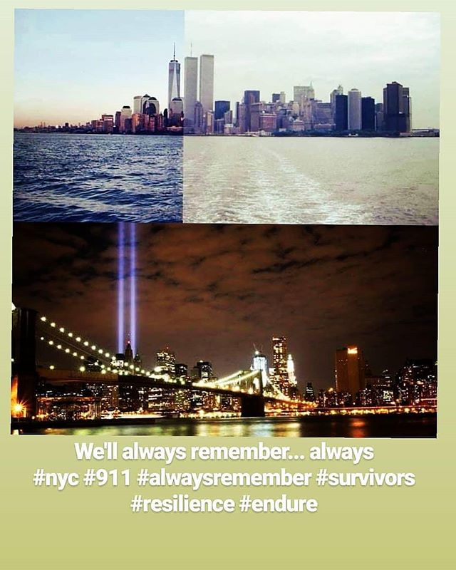 We'll always remember... always  #nyc #911 #alwaysremember #survivors #resilience #endure #lowermanhattan #chinatown