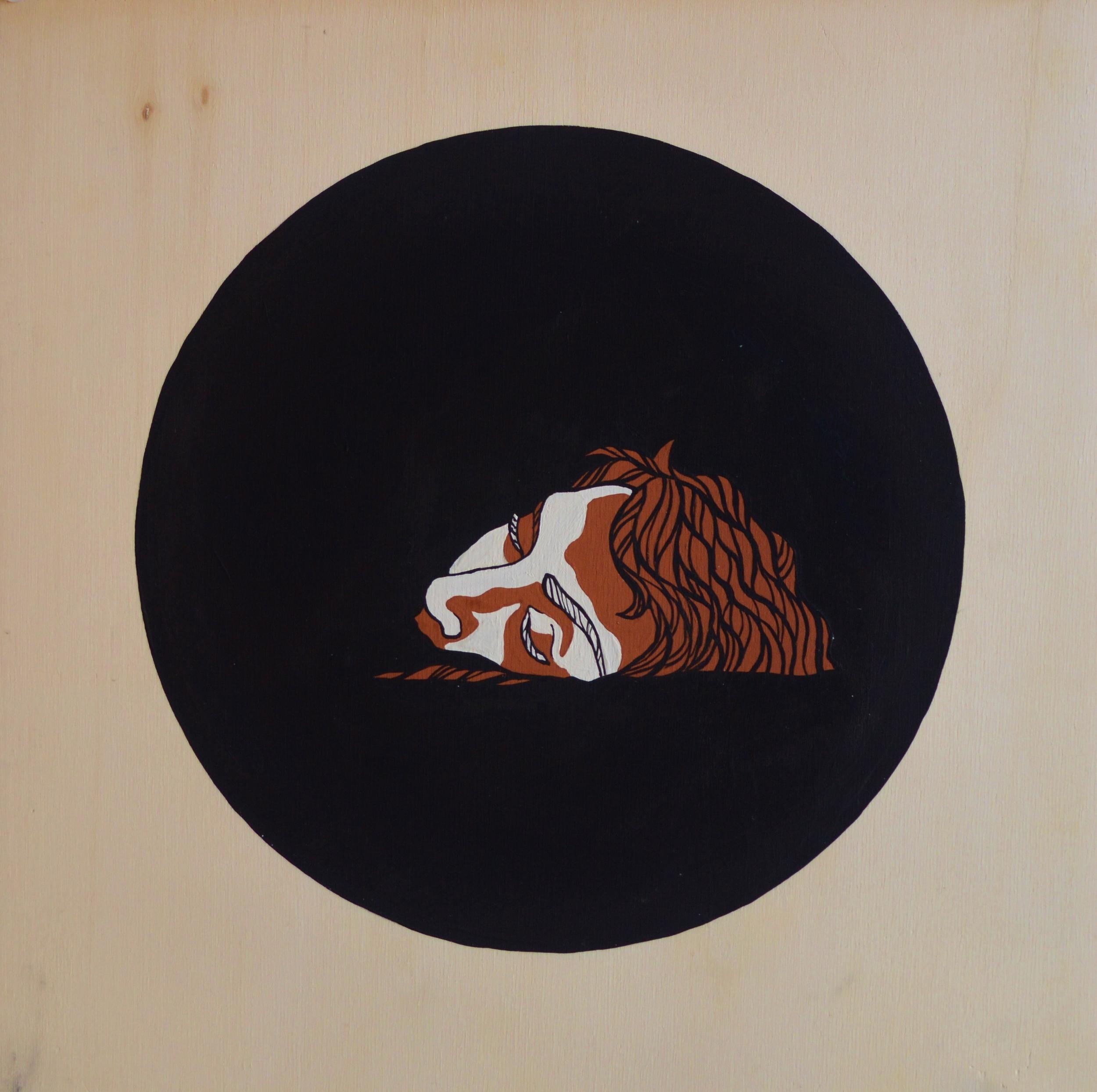 Etruscan , 30 x 30 cm, gouache on wood, 2013