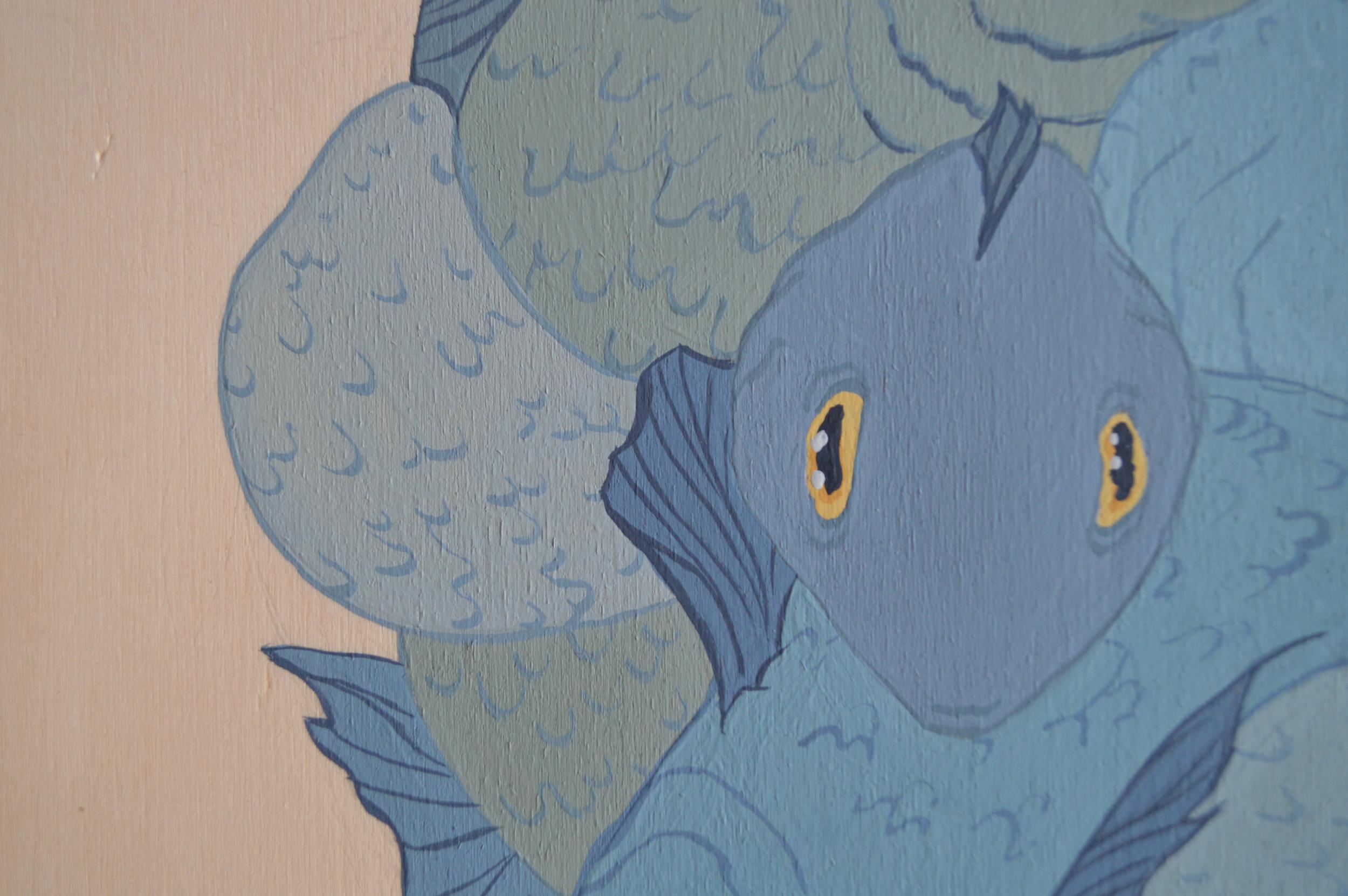 Fish (detail),30 x 30 cm, gouache on wood, 2013