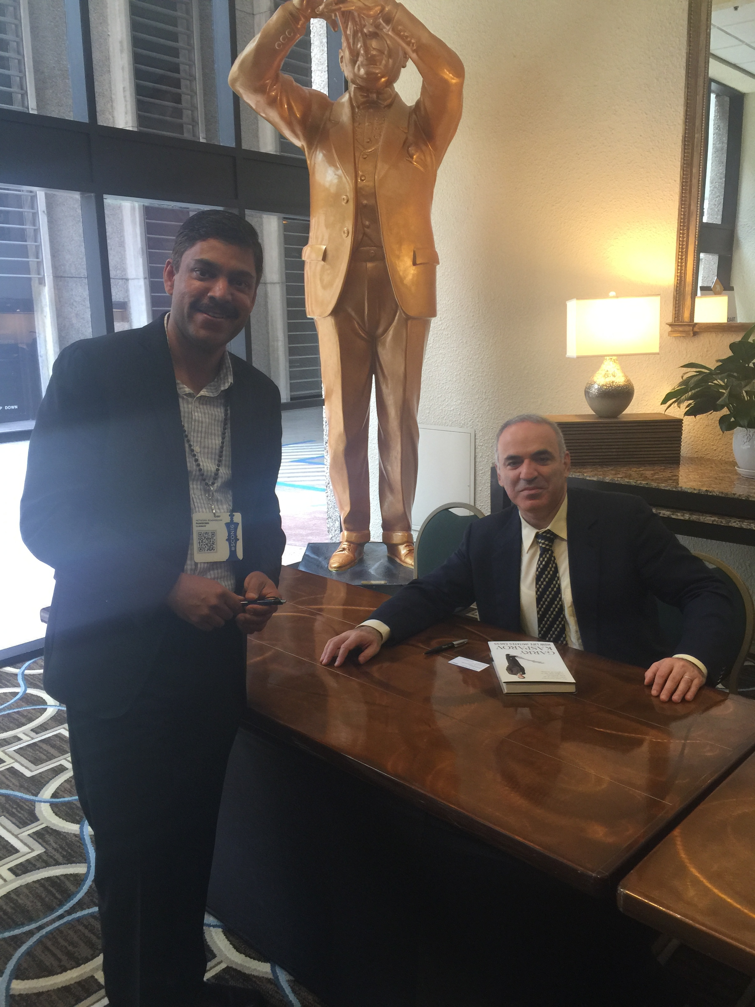 With Garry Kasparov in Llamasoft SummerCon 2016 conference in  New Orleans