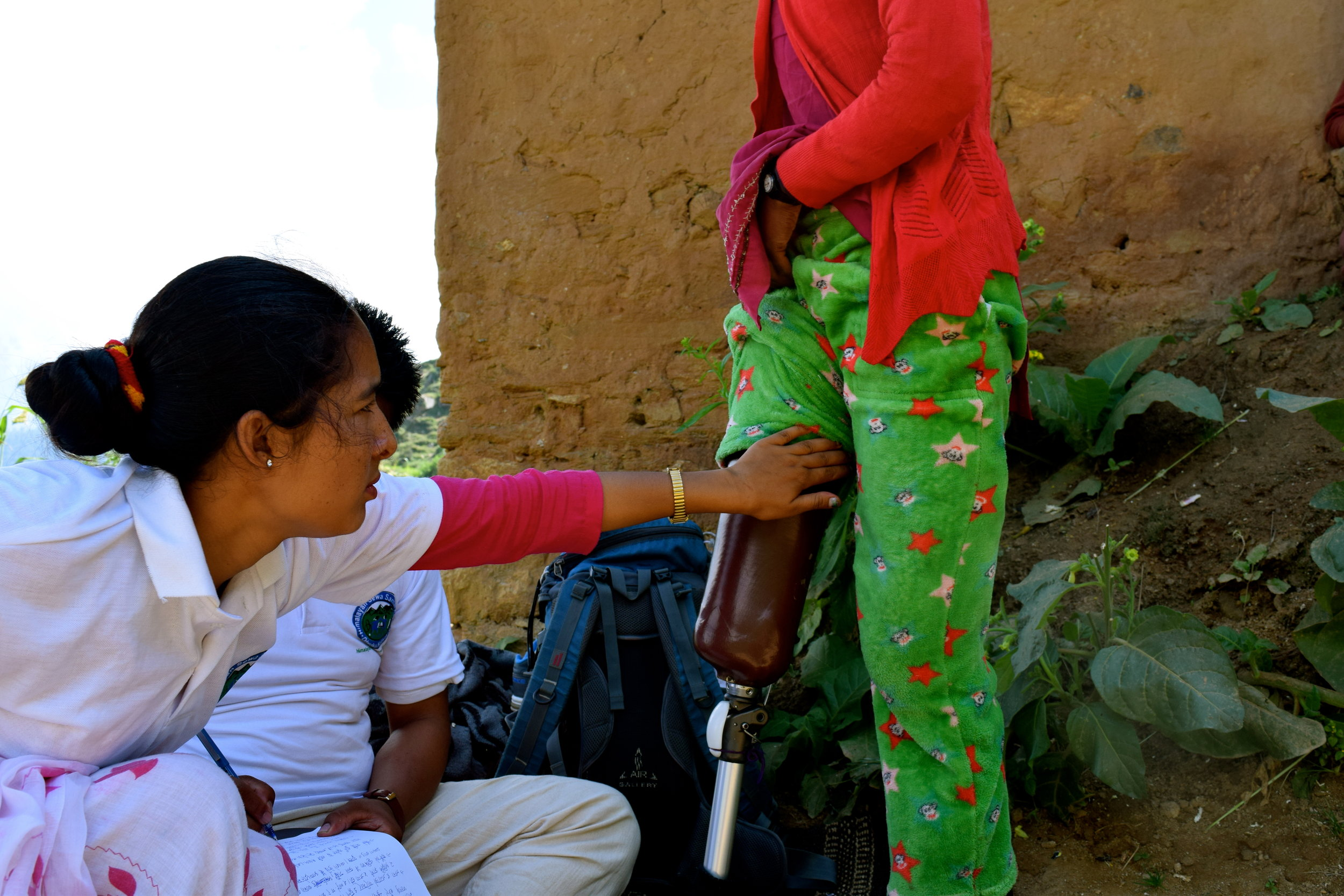 In September of 2017 Khalasha traveled to the village of Chaapre to conduct follow-up interviews from our 2016-2017 Prosthetic Camp