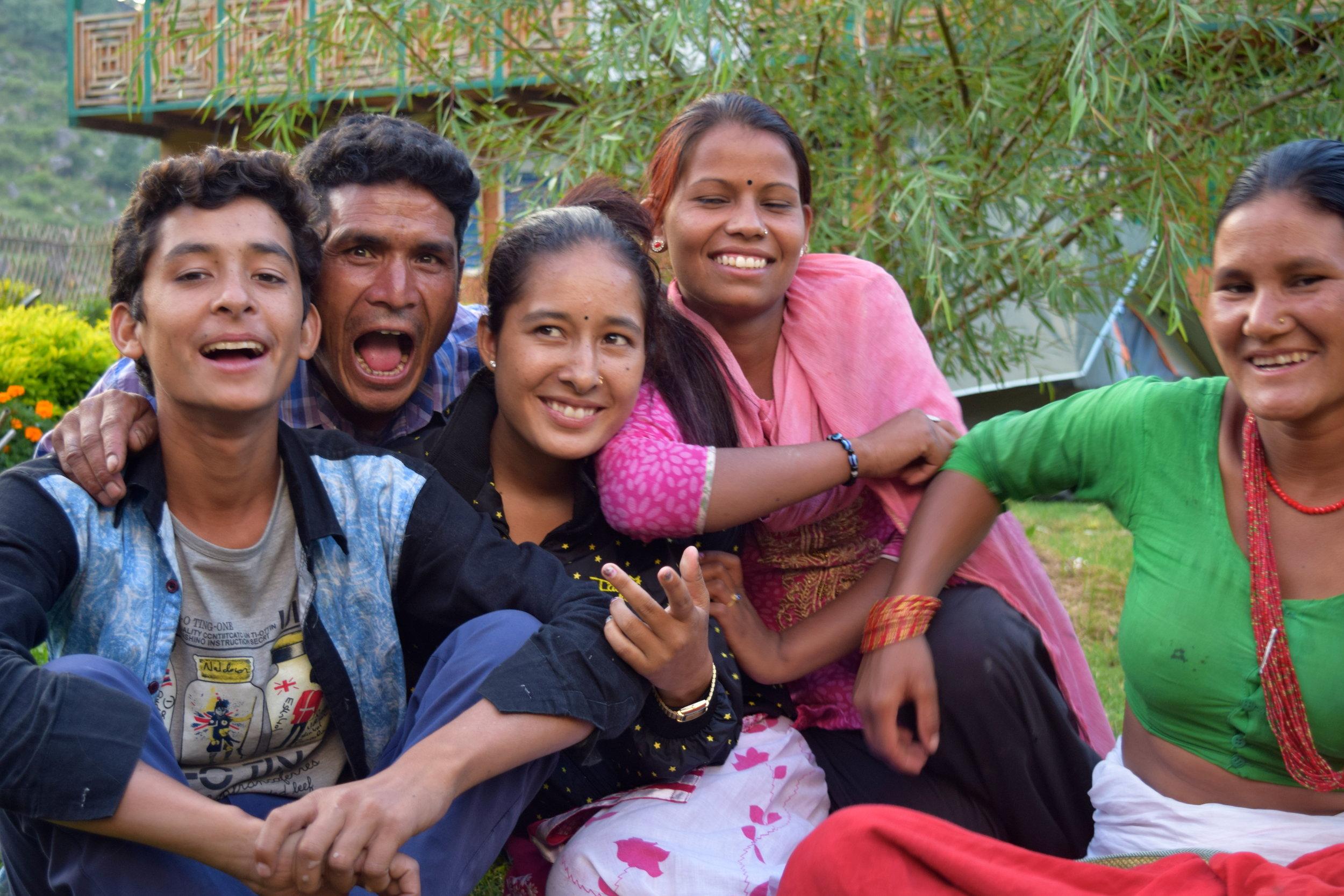 Oda Foundation staff from left to right: Bakhat, Prem, Khalasha, Binita, Sani Kanchi