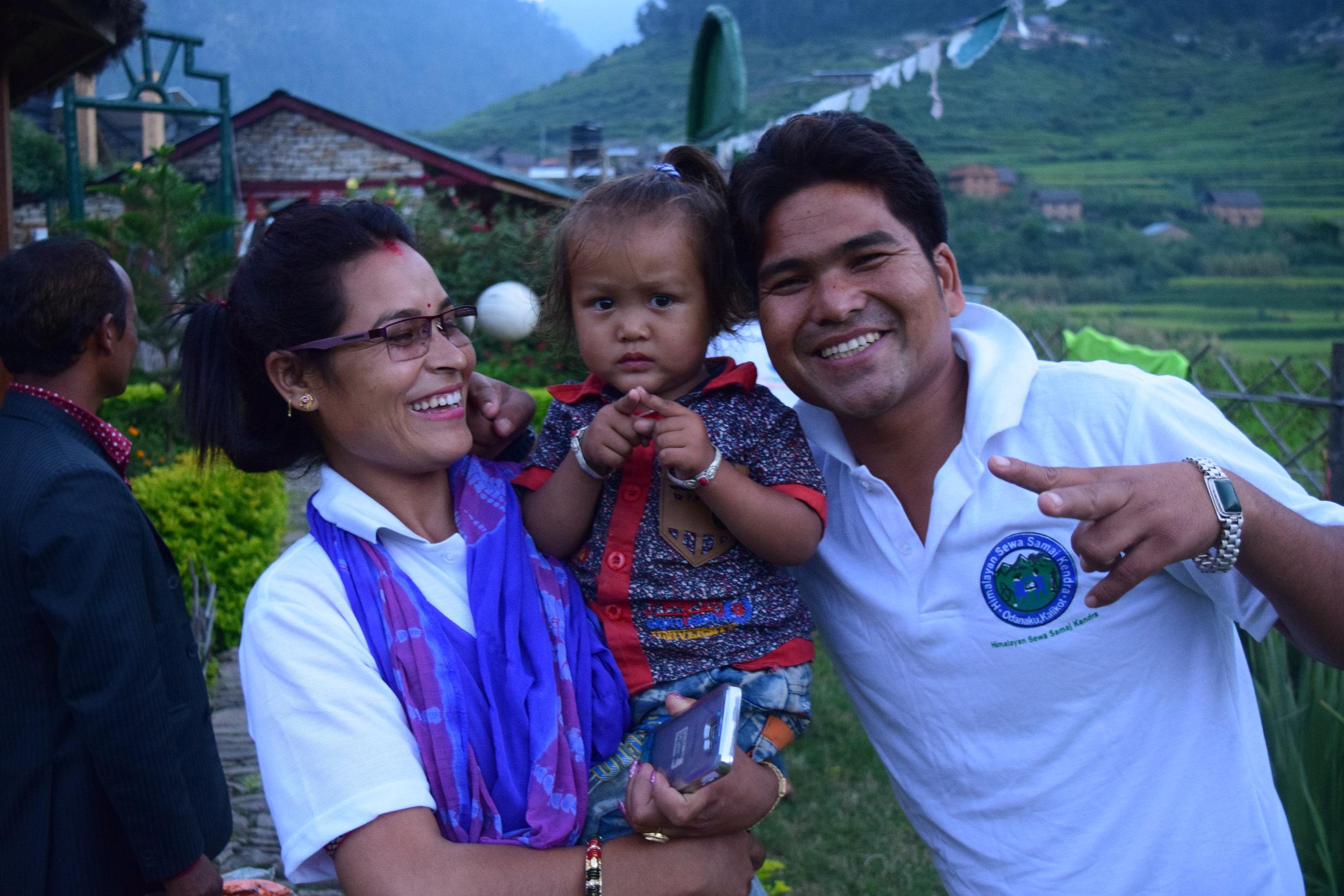 Karan with his wife, Sarita, and son, David.