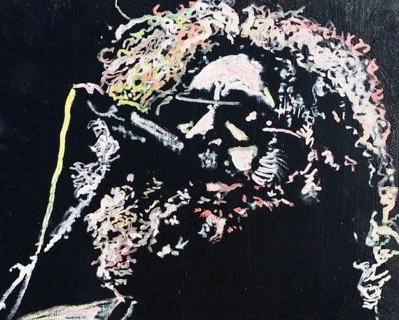 Jerry Garcia Painting 20x16 by Matt Pecson