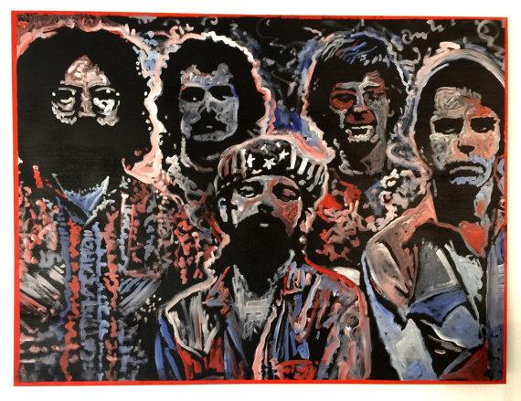 """Fare Thee Well"", Grateful Dead, 40x30, Oil on Wood Panel Board"