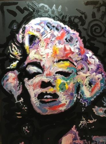 """Marilyn Monroe """"Hollywood"""", 18x24, Oil on Canvas"""