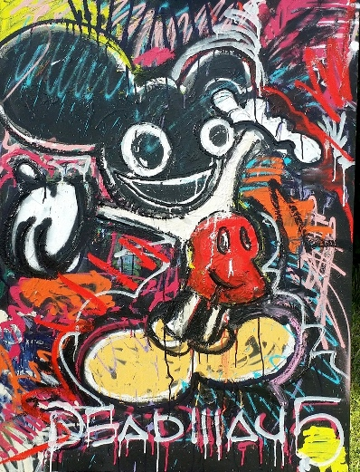 """Mickey Mau5"" Mickey Mouse / Deadmau5, 36x48, Mixed on Canvas"