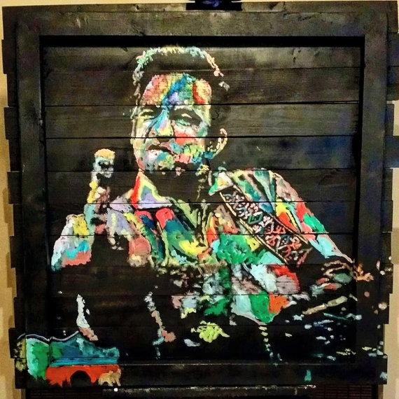 """Johnny Cash, """"Color Cash"""", 36x36, Oil on Wood Boards"""
