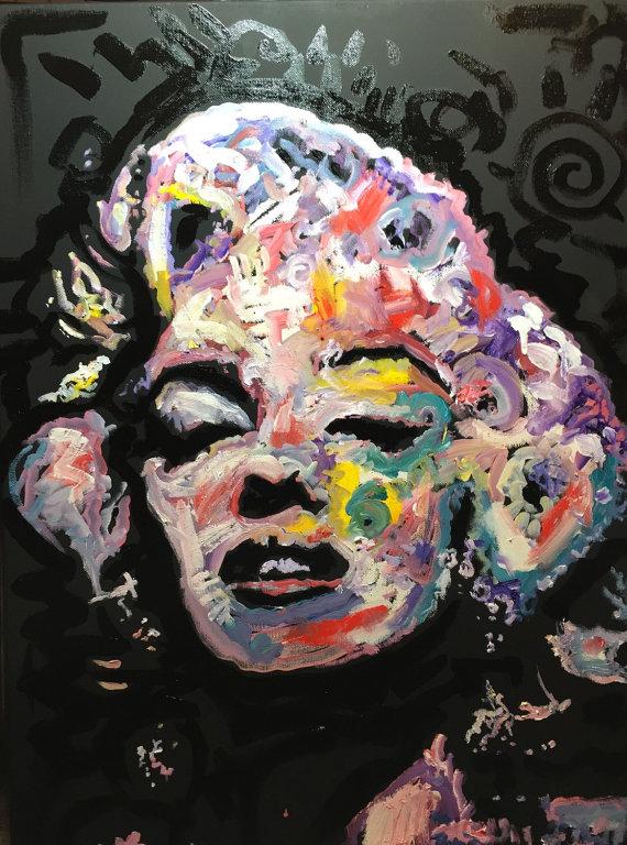 """Marilyn Monroe, """"Hollywood"""", 18x24, Oil on Canvas"""