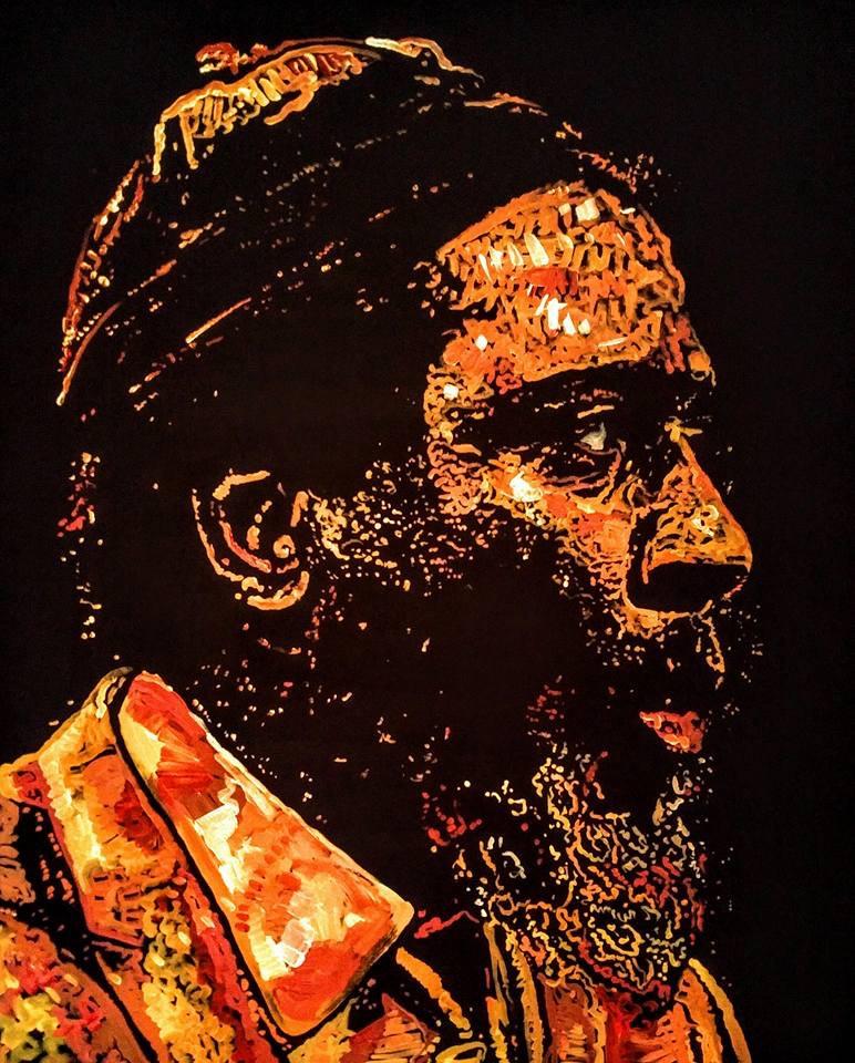 """Monk's Mood"", Thelonious Monk, 48x60, Acrylic on Canvas"