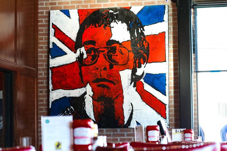 Elton John, 6 ft x 6 ft, Acrylic on Plywood Board