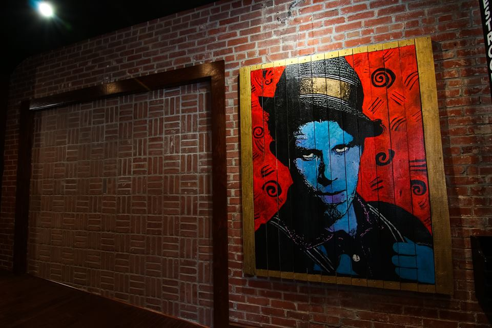 """Tom Waites, 60""""x72"""", Acrylic on Wood Board"""