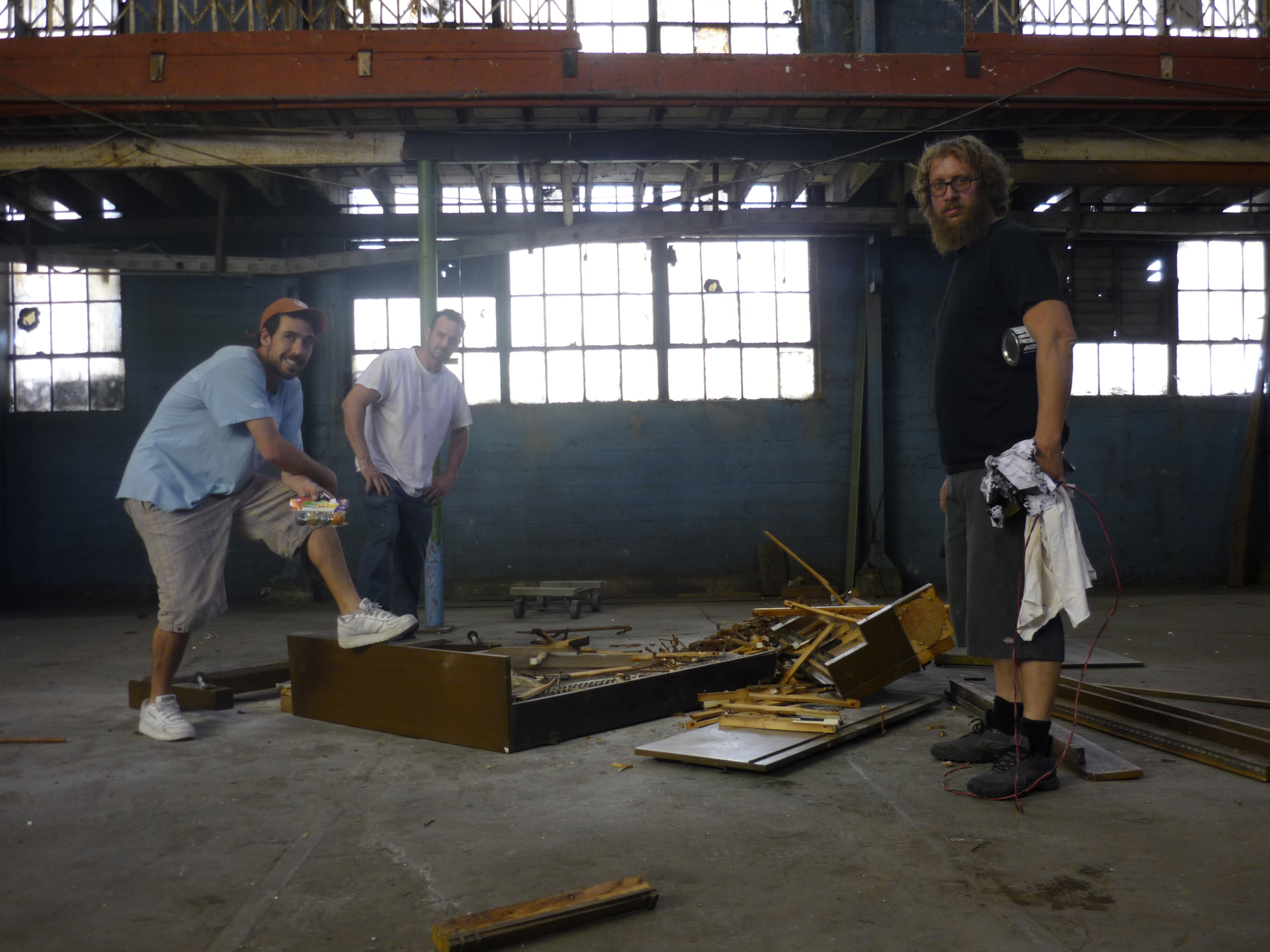 The fellas from Prop Steady admiring their masterpiece.