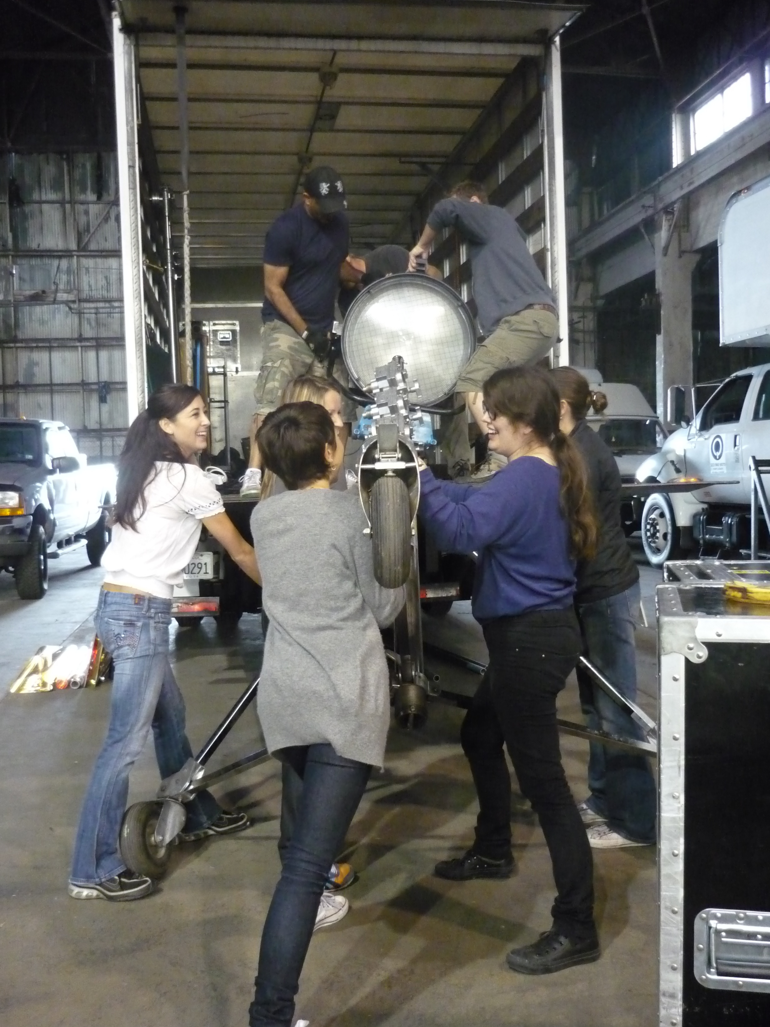 It takes a village to get the HMI in the truck.