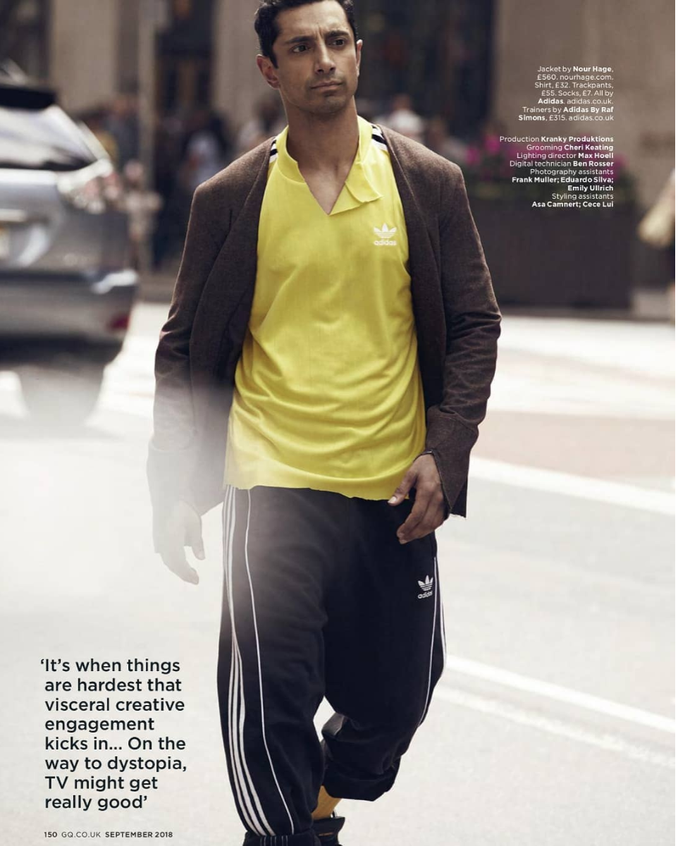 Riz Ahmed wearing Satra 01 - Featured on the cover of the September issue of British GQ, Riz Ahmed wore the Satra 01 in Grape along with Raf Simons X Addidas.