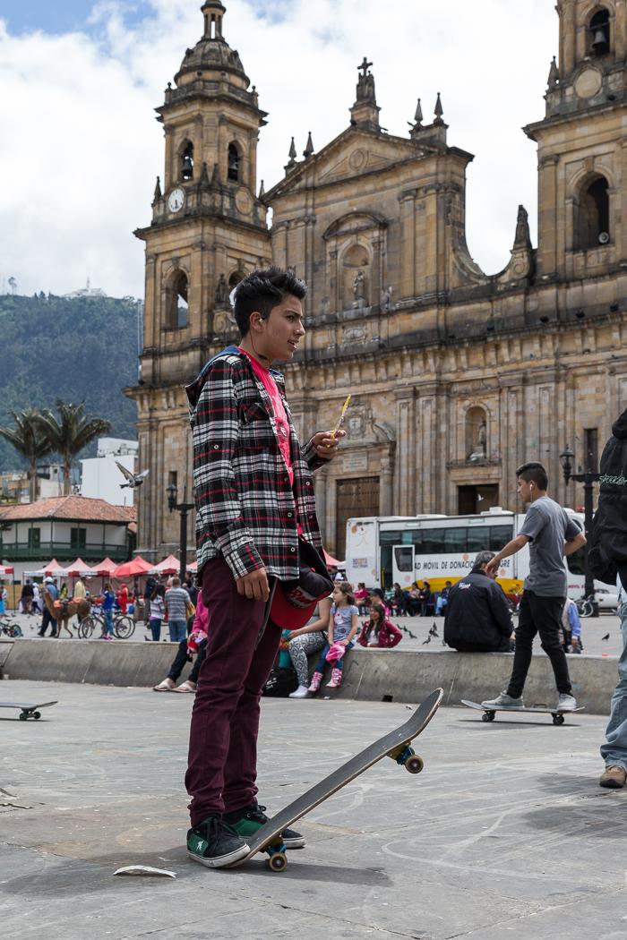 Skateboarder in Simon Bolivar Square
