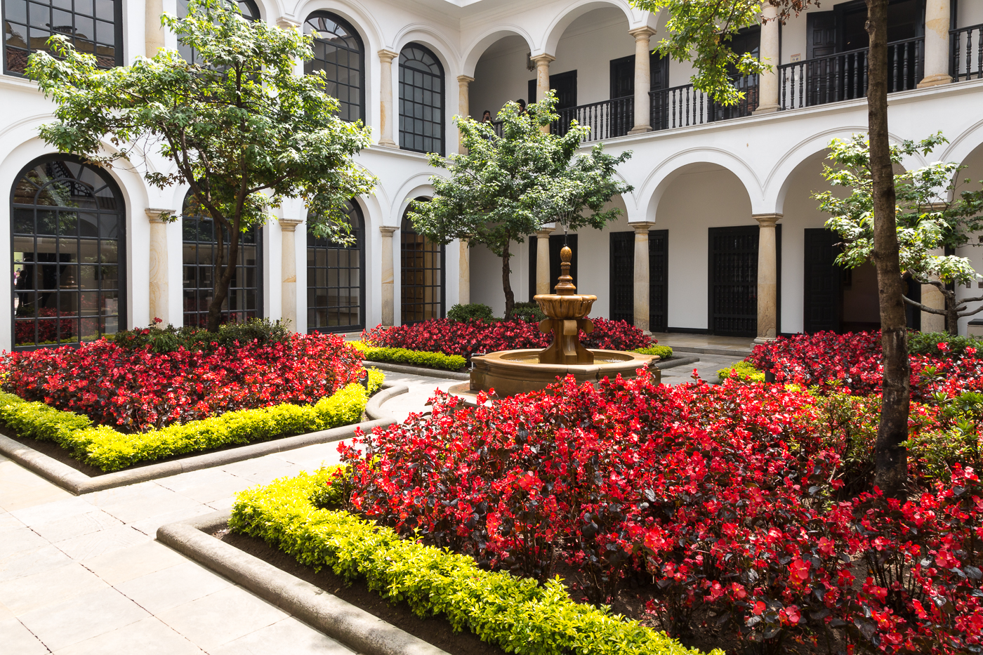 Inner Courtyard of the Botero Museum, Bogata