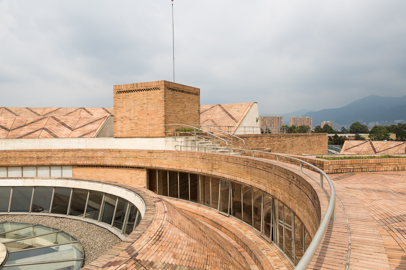 Top of the Virgilio Barco Library, Bogota