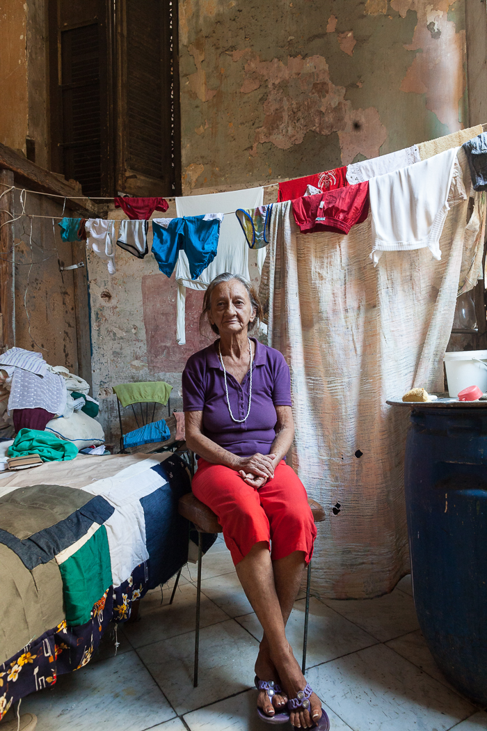 Cuban Woman in her Apartment