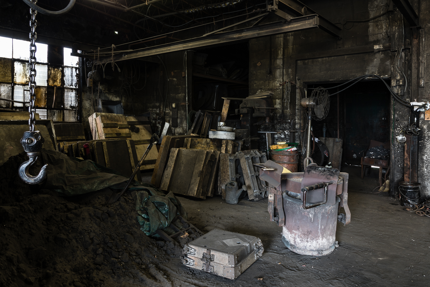 At the Back of the Foundry