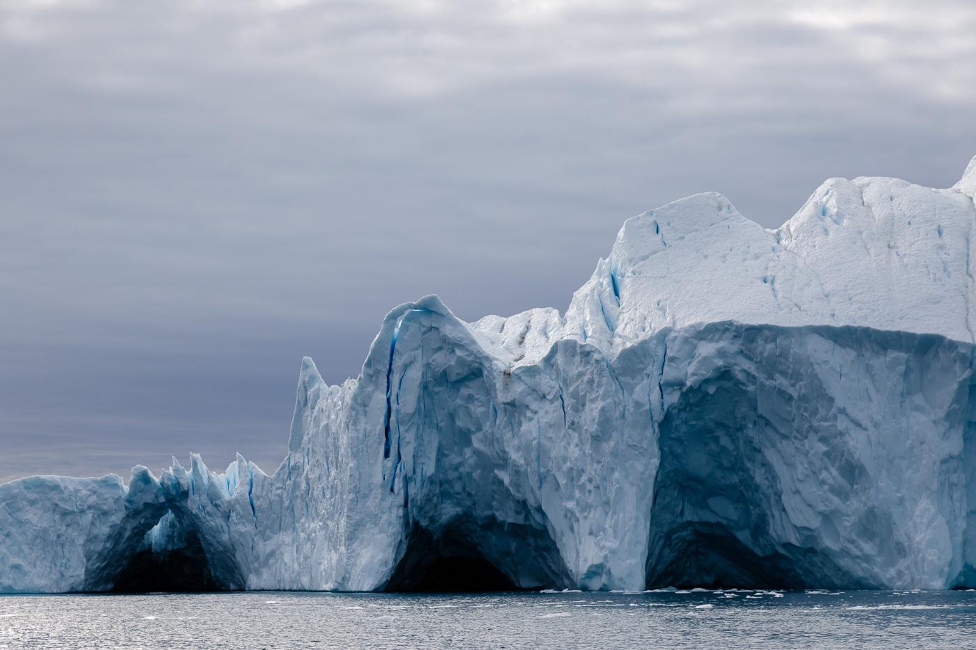 Icebergs off the coast of Greenland