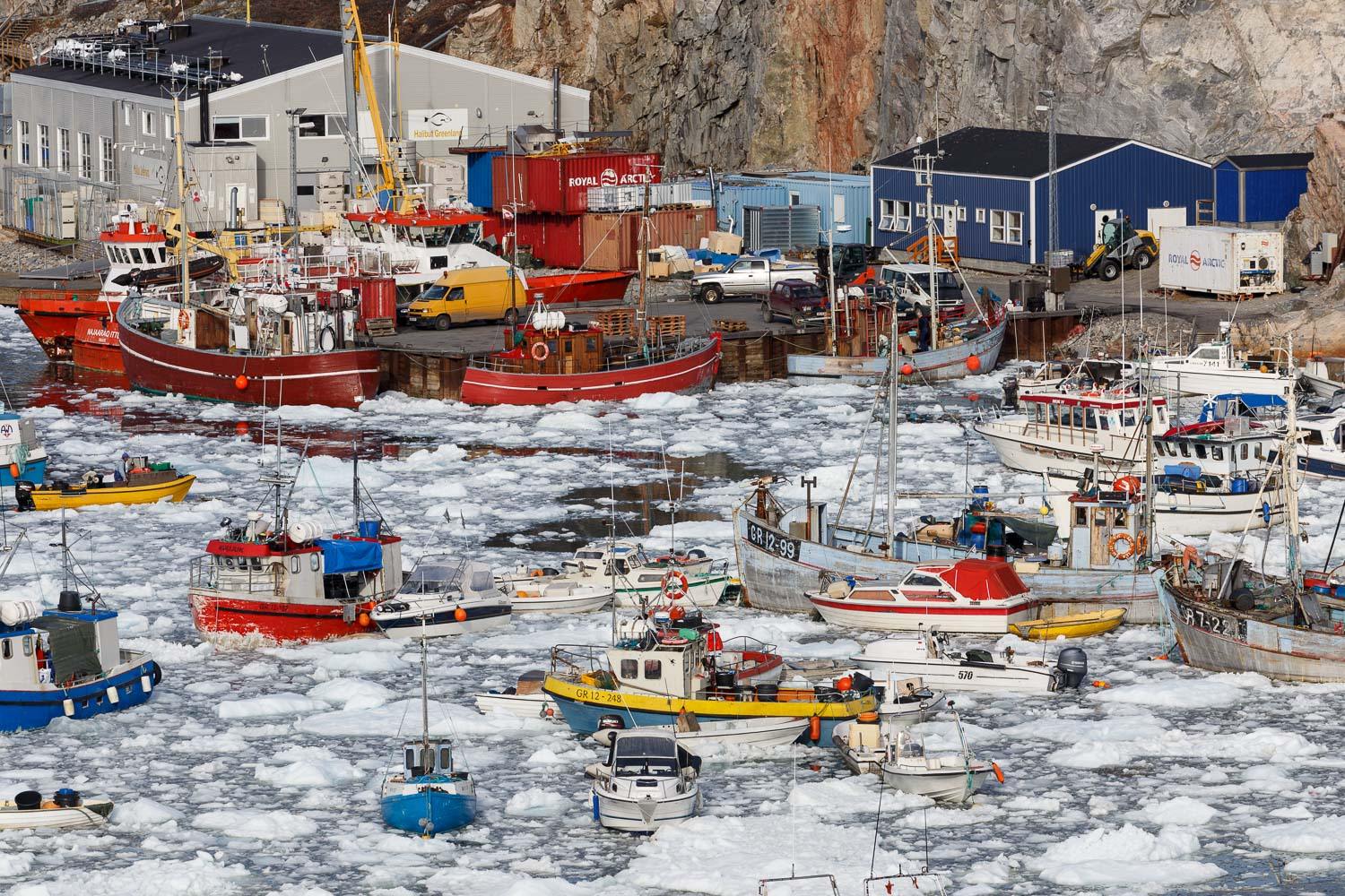 Boats in the Harbour, Ilulissat