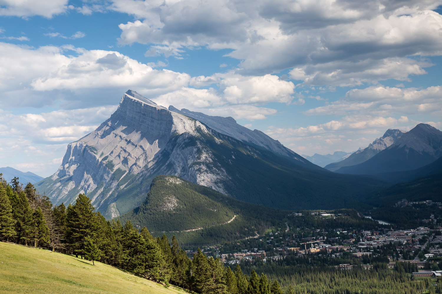 Mount Rundle with Banff below
