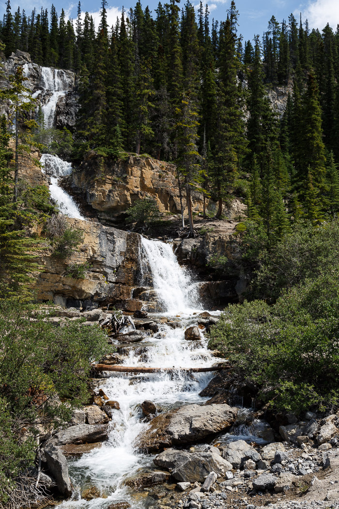 Beauty Creek Waterfall at Tangle Ridge