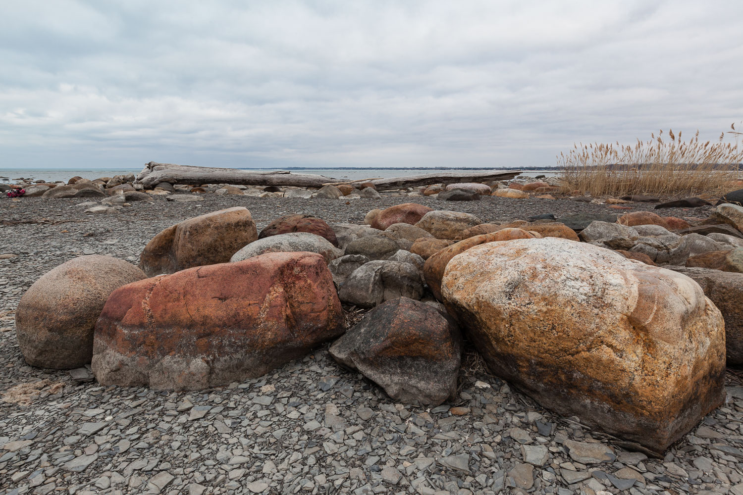 Rocks and Log at Kettle Point