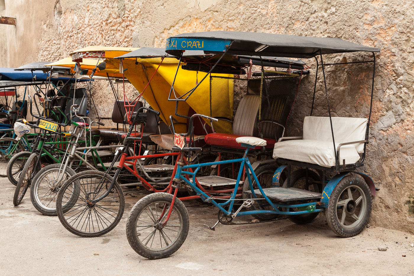 Bicycle Taxis in Havana