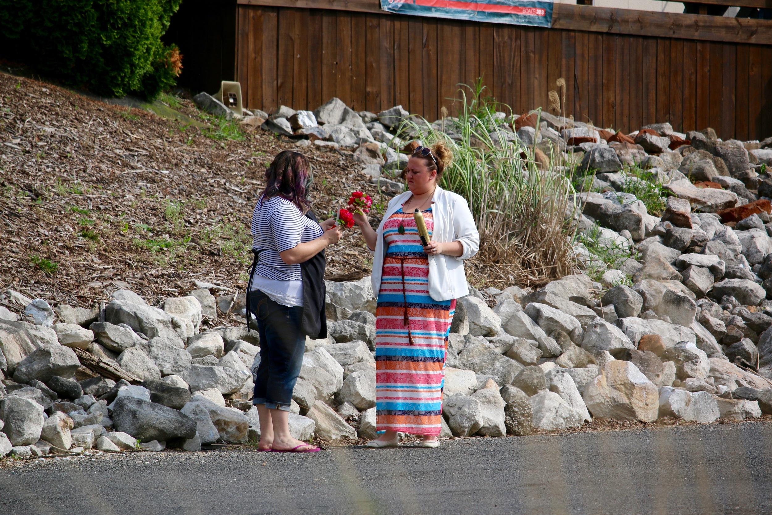 """We did not """"borrow"""" any flowers from Lake Springfield Marina..."""