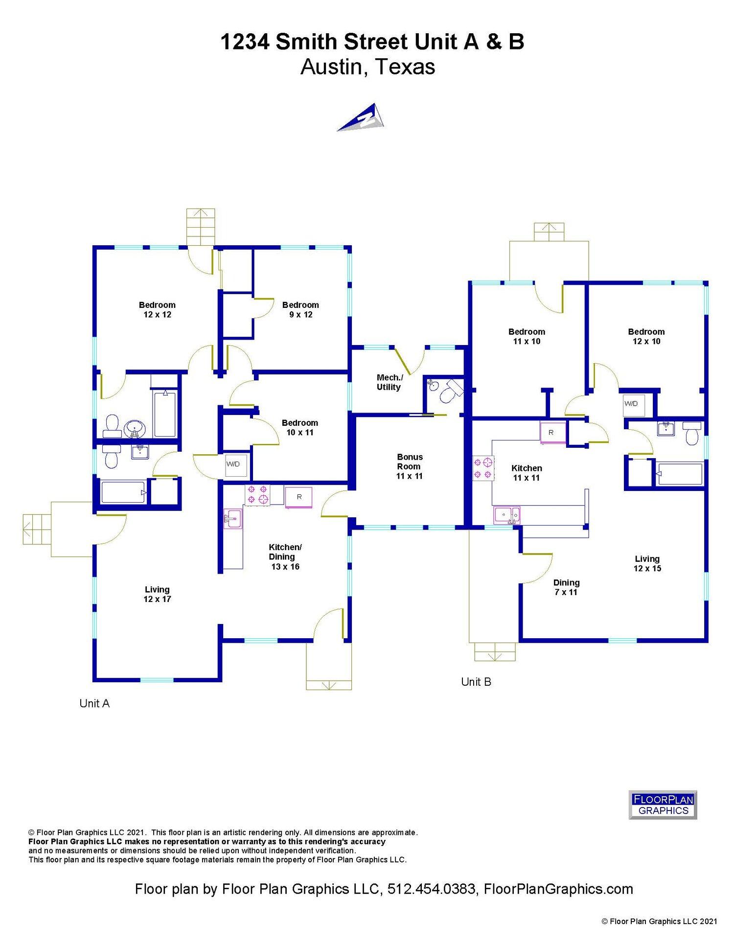 Marketing Package Duplex Triplex Fourplex And Apartments Floor Plan Graphics