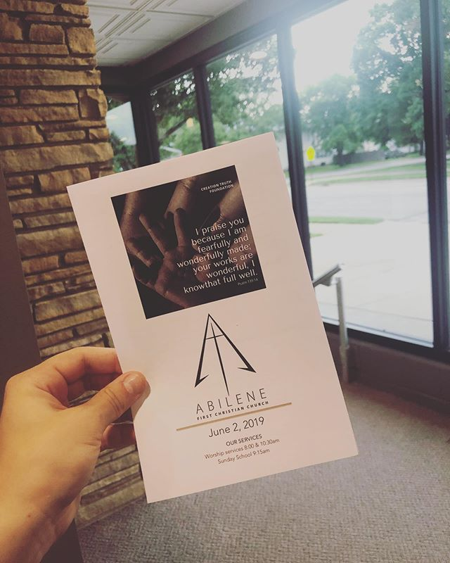 Come hear Mat speak about the creation truth foundation this morning.  Services at 8 and 10:30!  We hope to see you this morning.