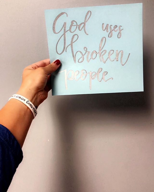 God uses the broken, God chose YOU, because it's that brokenness and those mistakes that give you a voice to reach those people who maybe feel like they don't measure up, maybe feel that their mistakes render them unusable or that they are too far gone to have a relationship with Him!  It's because of the mistakes you made that God WILL use you!  1. He chooses flawed people because that is who we can most identify with.  We relate to those people.  2. He chooses flawed people because their flaws make them see their need for a Savior. 3. He chooses flawed people because they have no cause to boast. They HAVE to rely on grace. There's no question, when you are flawed, that it was GOD who did the work THROUGH you and not you on your own! 4. God chooses and uses broken people to show us that He can equip anyone to do His work.  Give your brokenness to the Lord and let him use you for His good.