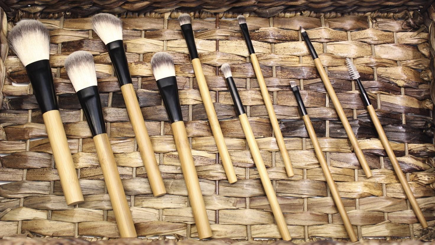 100% Bamboo Natural Makeup Brushed by Antonym Cosmetics (Sold at Cedra)